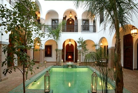 Riad El Noujoum in Marrakesh, with a pool to cool off in after hot days in the Moroccan desert