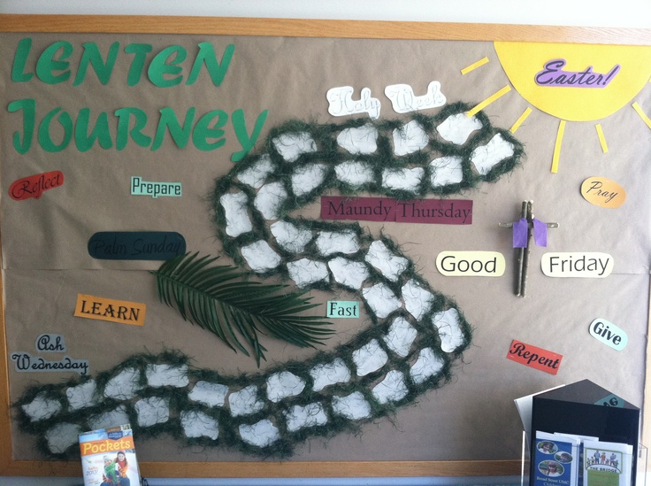 My Lent Bulletin Board Church ideas Pinterest