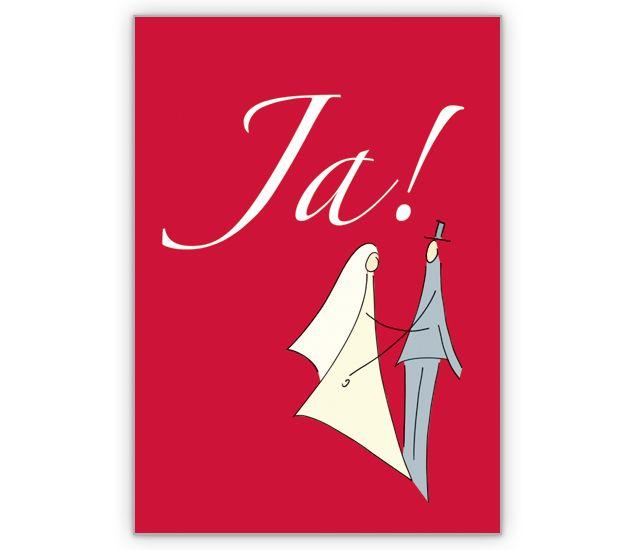 """"""" Ja"""" als Hochzeits Anzeige oder Einladung - http://www.1agrusskarten.de/shop/ja-als-hochzeits-anzeige-oder-einladung/    00012_0_1254, Brautpaar, Einladungskarte, Glückwunschkarte, Gratulation, Grußkarte, Helga Bühler, Hochzeit, Klappkarte00012_0_1254, Brautpaar, Einladungskarte, Glückwunschkarte, Gratulation, Grußkarte, Helga Bühler, Hochzeit, Klappkarte"""