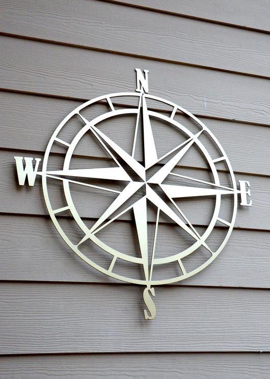 814effb3c4 Nautical Compass Rose Metal Wall Art in 2019 | Deck Ideas | Compass ...