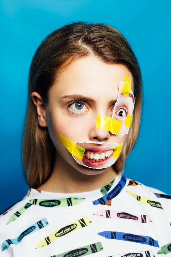 Unusual And Offbeat Portraits of Faces Pasted With Magazine Features
