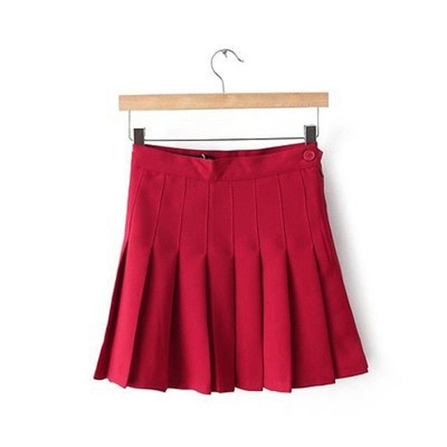 Womens Pleated Mini Skirt Skater Tennis Skirts High Waisted A Line Skorts School Girl Uniform with Shorts