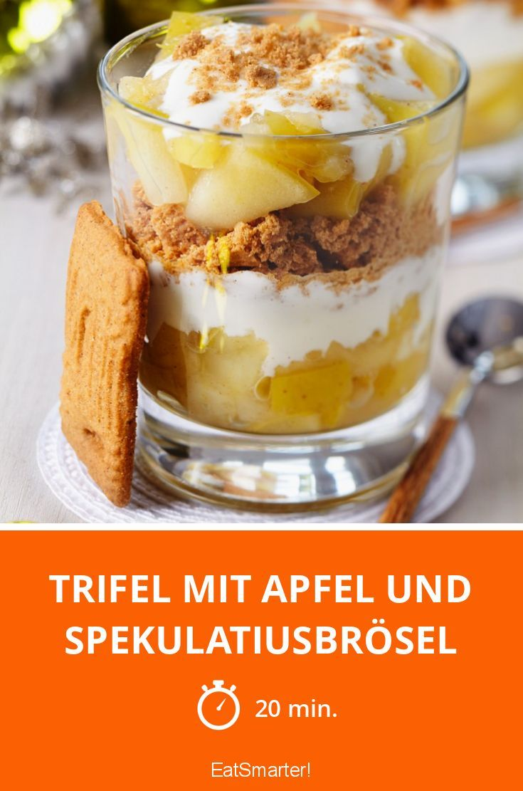 Trifel mit Apfel und Spekulatiusbrösel - smarter - Zeit: 20 Min. | eatsmarter.de