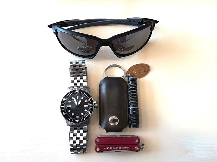 My micro EDC  submitted by MA  ThruNite T01  HELM Vanuatu  Leatherman Personalised 'Western' Genuine Leather Case Pocket Clip for Micra Multi-tool - Brown  Oakley Men's 0OO9302 Carbon-Shift Sunglasses Matte Black  Leatherman Squirt PS4