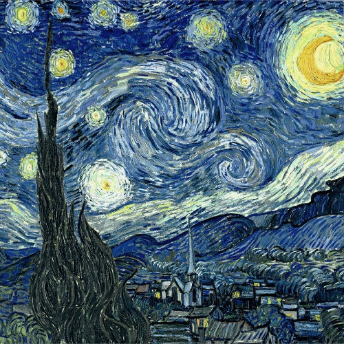 This has been my fav painting since I was a child.  Starry Night – Vincent van Gogh