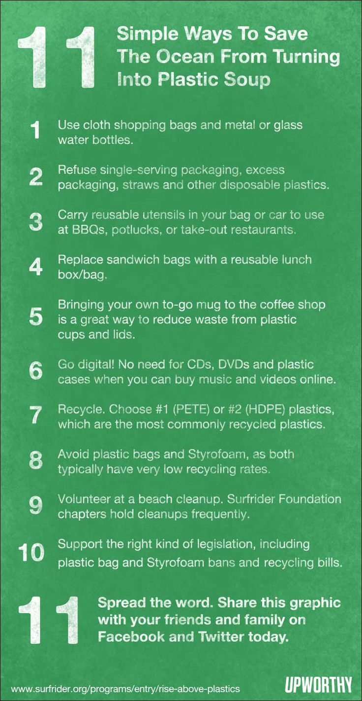 11 simple ways to save the #ocean from turning into #plastic soup