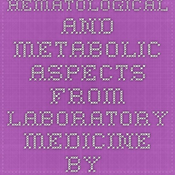 Hematological and Metabolic Aspects from Laboratory Medicine by Aurelian Udristioiu, Manole Cojocaru, Radu Iliescu (9783847307754) - superbookshop.net (en)