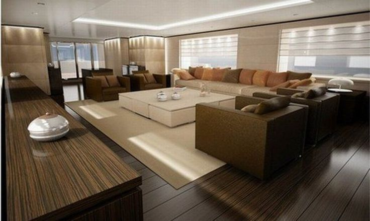 Interior:Luxurious Fascinating Luxury Interior Design For Yachts And Large Boats Concept Design Plan Wood Furniture Hardwood Furnishing Five...