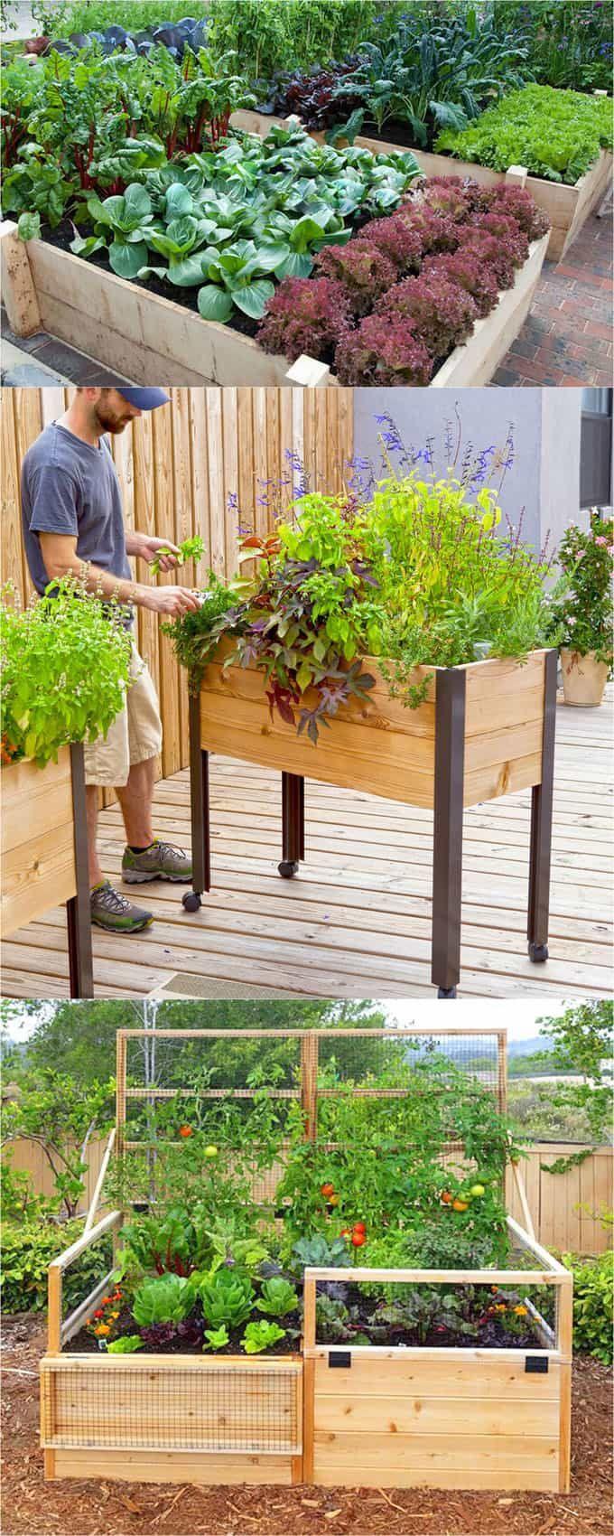 amazing diy raised bed gardens gardenyard ideas pinterest