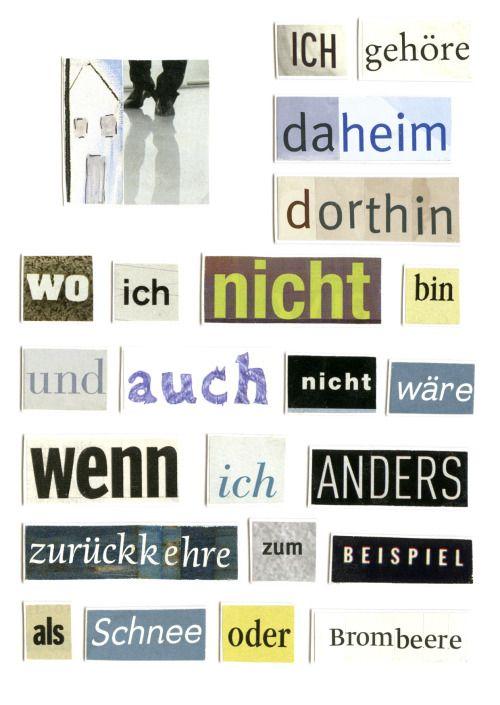 walter-benjamin-bluemchen:  Herta Müller - Collage [via adaequatio]