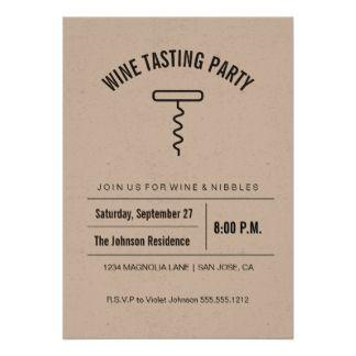 Kraftpapier-Sammlungs-Weinprobe-Einladung 12,7 X 17,8 Cm Einladungskarte