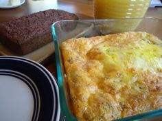 Freezable breakfast casserole. Prepare. Do NOT bake. Place in freezer until evening before ready to use. Easy.