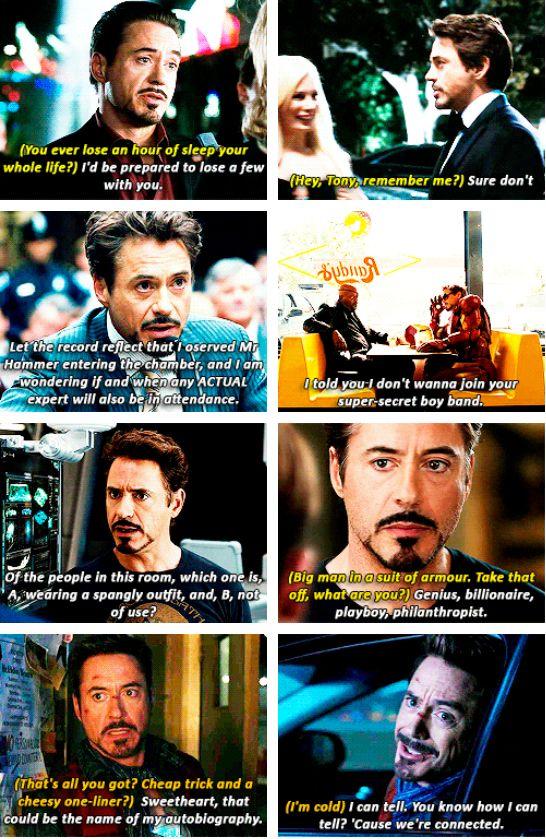 More Tony Stark sass.