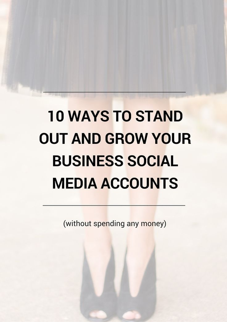 10 ways to stand out and grow your business social media accounts without spending any money! Grow your online business and blog traffic quickly. Click through for a free checklist!