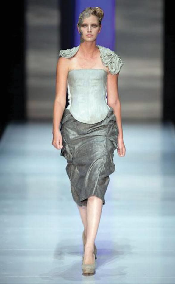 Suzaan Heyns | trademark | includes architectural elements with a feminine twist | Picture: SAFW