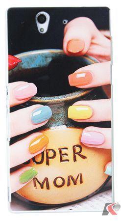 Sony Xperia Z Renkli Ojeler Resimli Kılıf