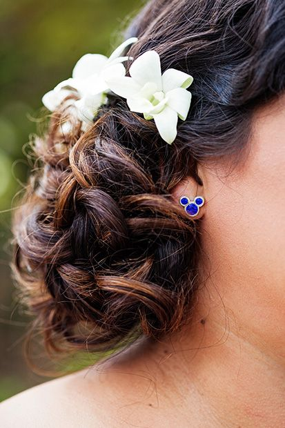 Subtle touch of Disney on your wedding day with Mickey Mouse earrings