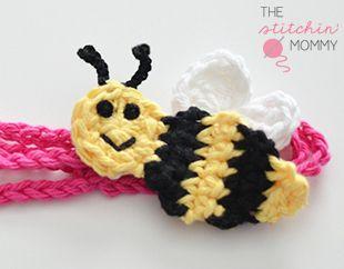 """Bee Mine"" Crochet Headband - Free Pattern | www.thestitchinmommy.com"