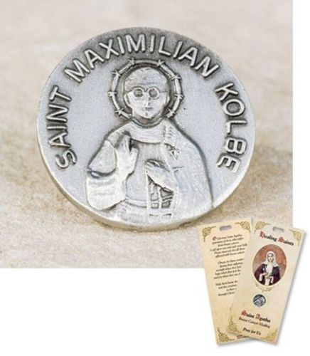 Patron-Saint-Maximilian-Kolbe-Drug-Addiction-Healing-Lapel-Pin-and-Holy-Card-Set