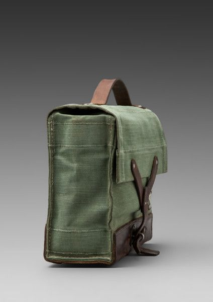 "urbnite: ""Will Leather Goods Surplus Swiss Medic Bag """