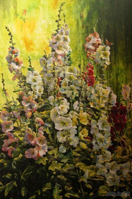 Родзин Дмитрий - Июльские цветы Б., акв. Год создания 2011 Размеры: 67,9 х 44,9