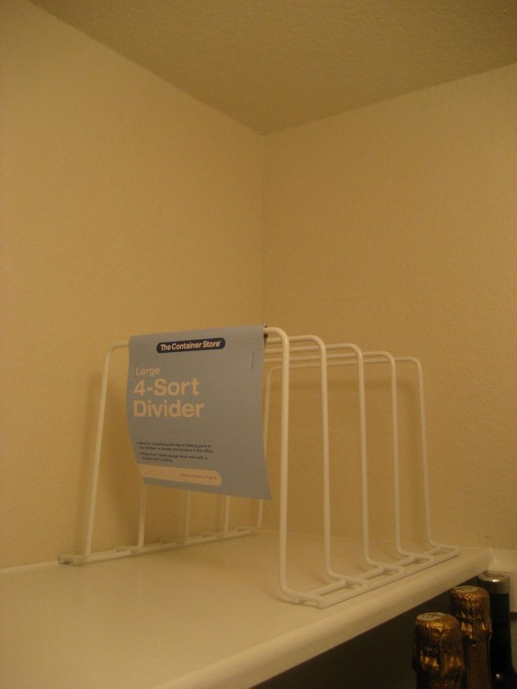 4 Sort Divider To Use In Pantry Or Above Fridge For Easy