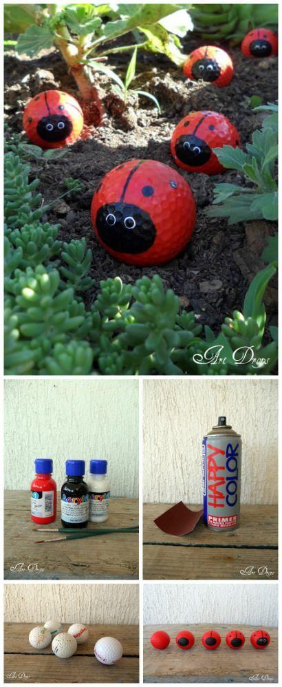 DIY: Golf Ball Upcycled Into Happy Ladybug