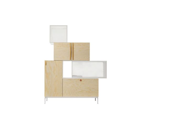 Tetris  Horreds Tetris, een opbergruimte van PLAN@OFFICE ontworpen door Horreds