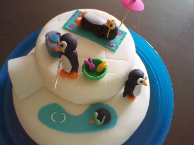 Pastel Pingüinos Fondant