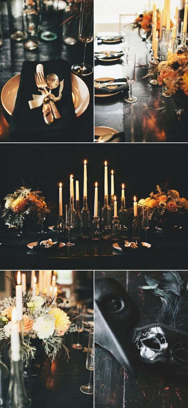 halloween dinner party - Halloween Themed Wedding Reception