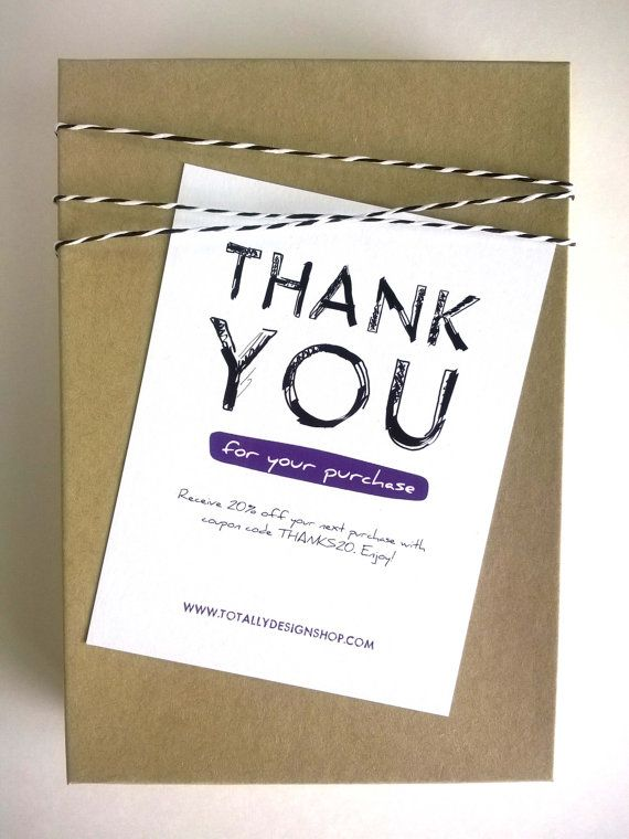 23 best business thank you cards images on pinterest for Thank you card for business
