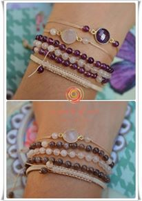 A pinch of art Proposed bracelet combination - Silver 925 & semiprecious stones...