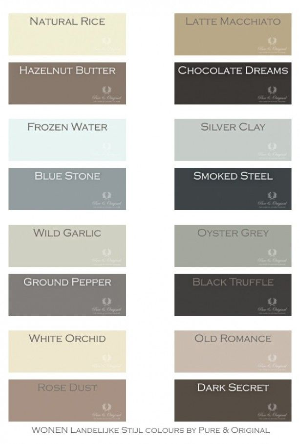 Mooie warme tinten. per 4 perfect te combineren, maar natuurlijk ook met andere tinten. deze kleuren zijn er in de kalkverf, krijtverf en matte lak.