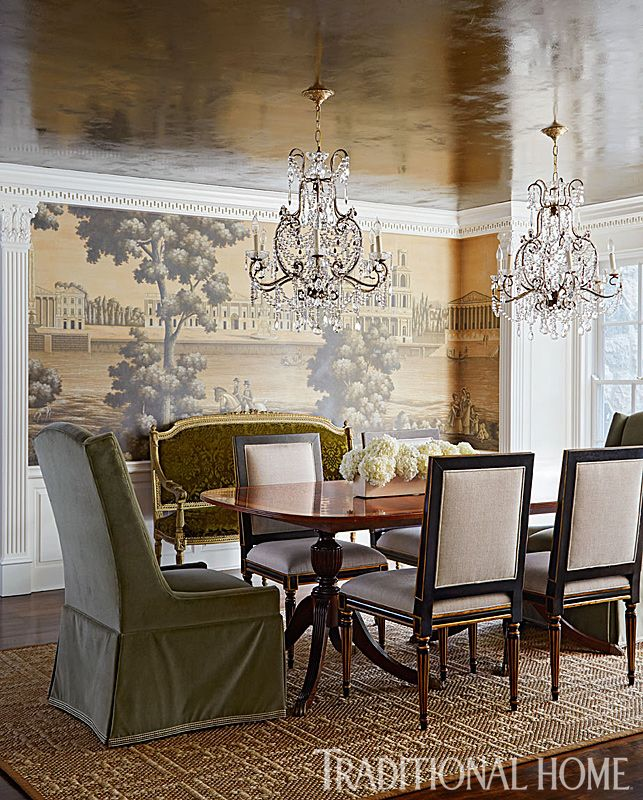 Stylish update for a historic detroit home dining room