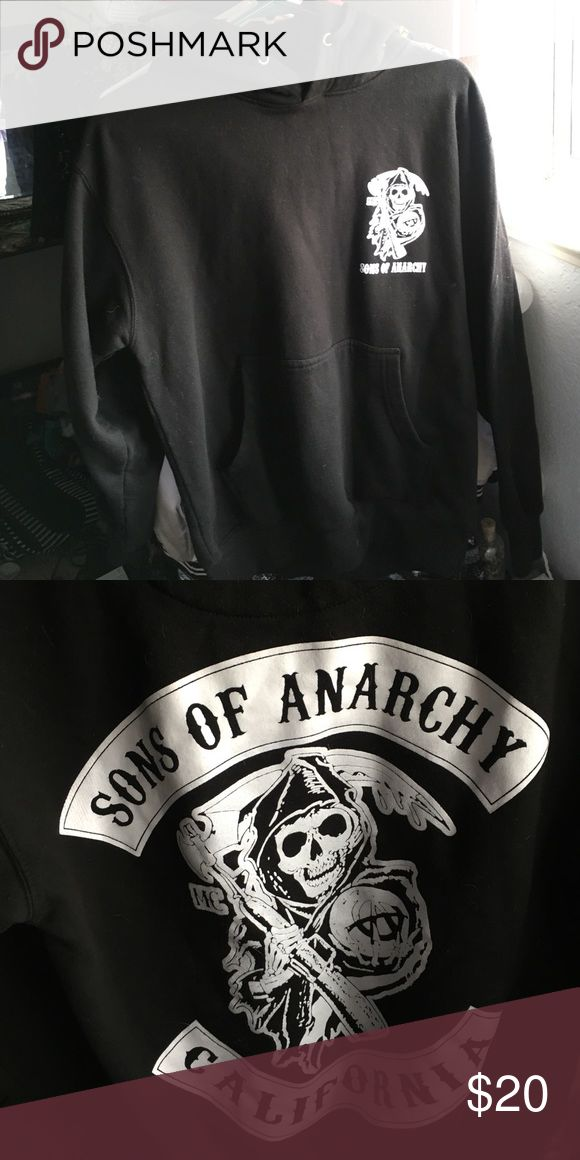 Sons of Anarchy hoodie👌🏻 Sons of Anarchy Hoodie size medium . Bought at a local motorcycle ralley . Great condition , it is too big for me so I'd like to find a new home for this piece of work! If you love the show SOA this is a piece you'll want to add to your closet! Perfect condition. I ship same day!🌺 Sweaters