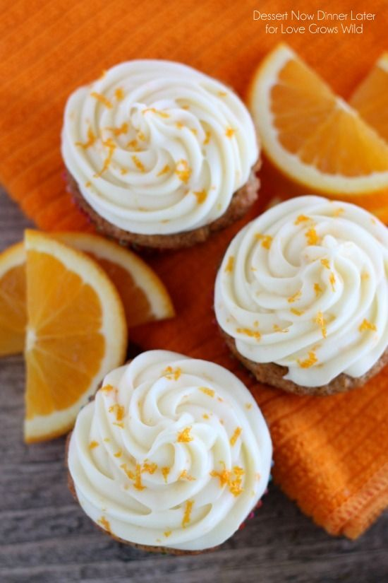 Coconut Carrot Cake Cupcakes with Orange Cream Cheese ...