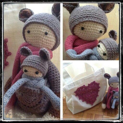 Mini Minion Amigurumi Pattern : Mi canguro particular. Amigurumi. Bolsa. Crochet Pattern ...