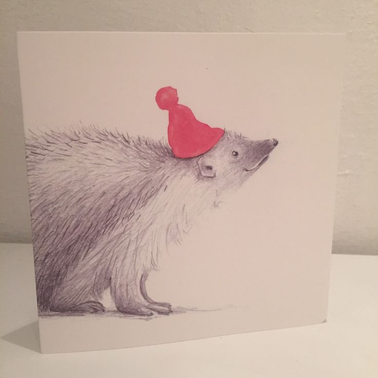 Christmas cards ready to order! Four different motifs :) follow the link. AneIllustration @etsy  #christmas #cards #hedgehog #handdrawn #illustration #animal #etsy