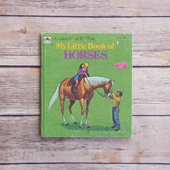 New in The Book Cottage: Vintage Horse Book for Children   My Little Book of Horses A Golden Tell A Tale Book   1970s Retro Kids Book All About Horses Cute Farm Read by TheBookCottage