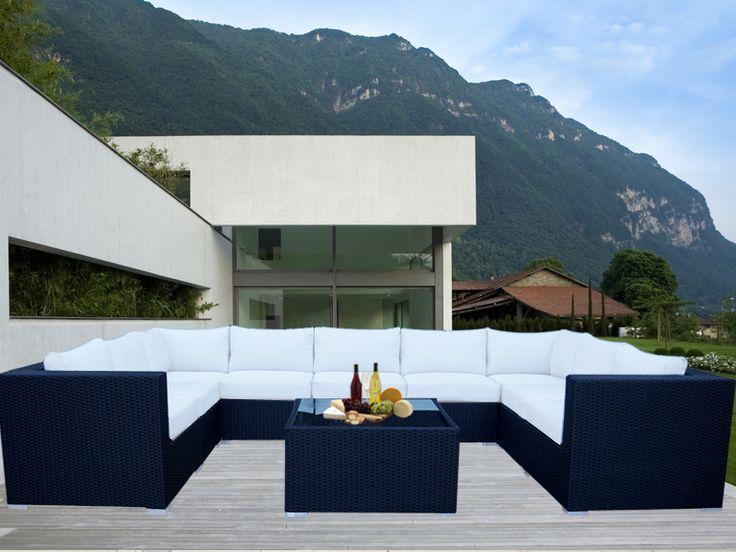 Black Grand Jamerson Modular Outdoor Furniture Setting