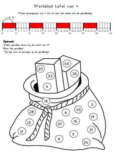 13 best tafels rekenen images on pinterest mathematics for Werkbladen tafels