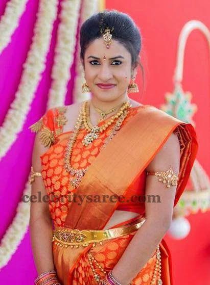 Bride in Lotus Zardosi Blouse