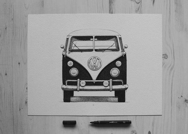 Illustrations monochromes au stylo-feutre noir