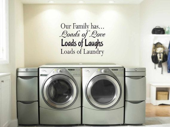 Laundry Room Decor Wall Art Matt Vinyl Decal By VinylWallQuotes Part 90