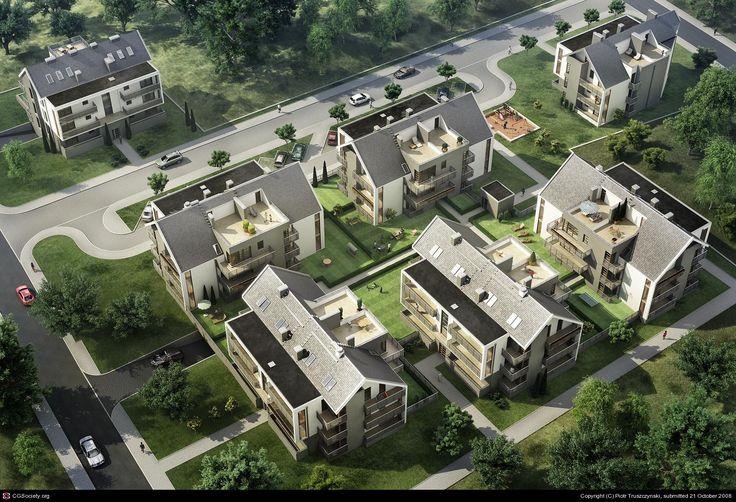 Residential houses by Piotr Truszczynski | 3D | CGSociety