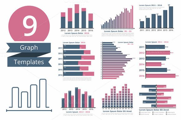 9 Graphs and Charts Templates  @creativework247