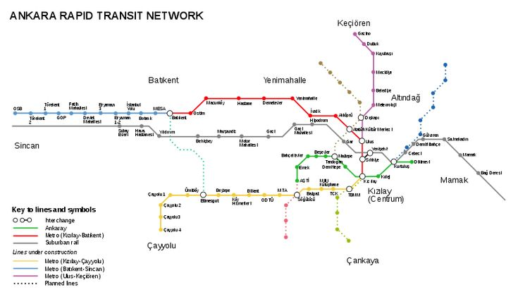 awesome Ankara Subway Map