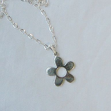Sterling Silver Open Daisy Necklace Healing Clarity by ArcanaDea, $52.00