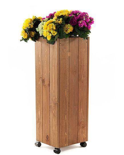 Donica drewniana skrzynka ogrodowa RDK-1-80 kółka, cena: 93 zł