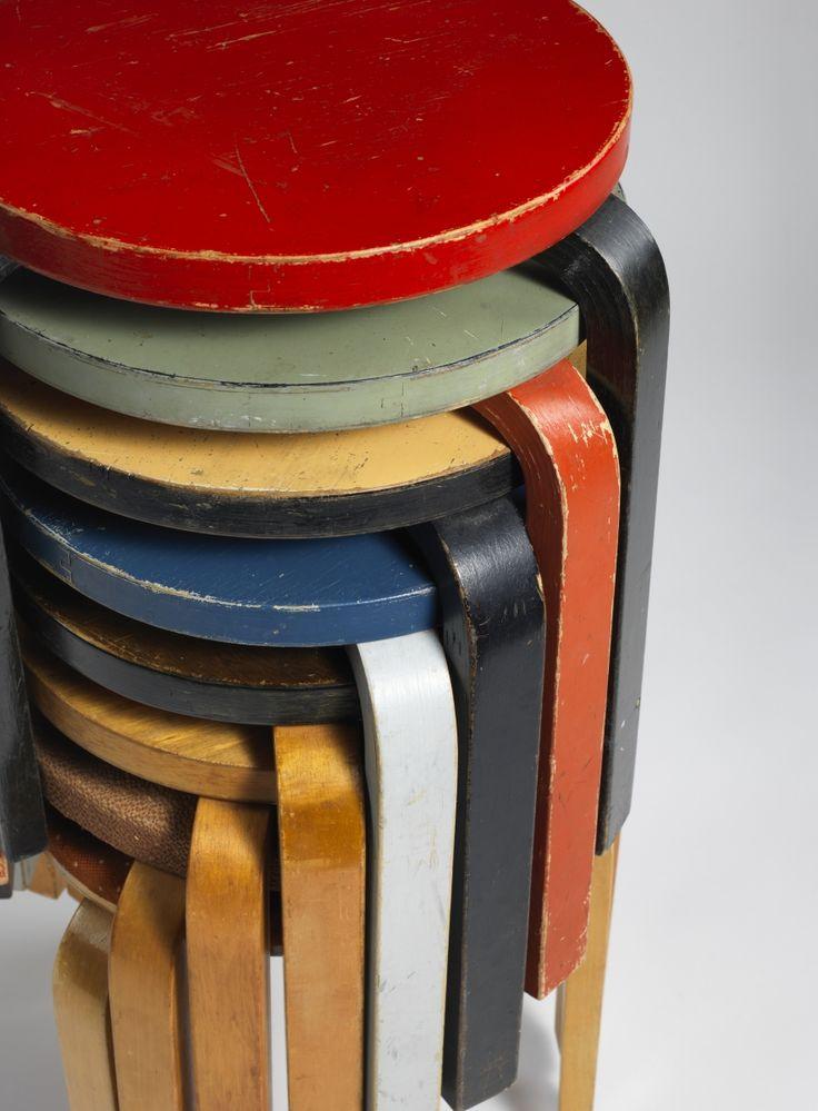 Alvar Aalto, Stacking Stools (model 60), 1932-33